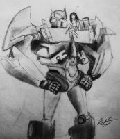 Optimus and I by KristenitaPrime7