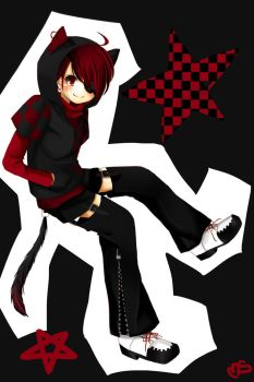 black and red by xaznminigrlx