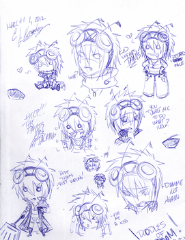 Kid Work Doodles part 2 by ProjectHalfbreed