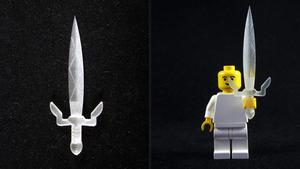 LEGO 3D Printed Gilded Sword by mingles
