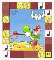 Super Mario Brothers Tarot Cards - The Chariot by Isuckworse