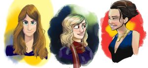 Girl Portraits by madDolphin