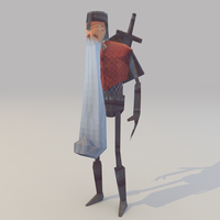 Lowpoly Knight (With weapon) by lithium-sound