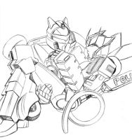 JazzxWereProwl - Sketchie by taisryo