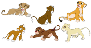 Lwy Adopcja/Lions adopt 2/6 open by MidoriNoOkami