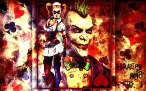 Harley Quinn and Mr. J by evansT
