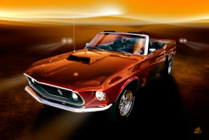 Mustang in the Sun II by theCrow65