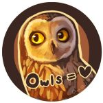 Owl Love Button by OrcaOwl
