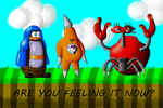 Are you feeling it, Crabmeat? by sergeant16bit
