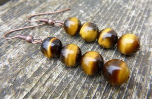 Tigers Eye earrings by Lost-in-the-day