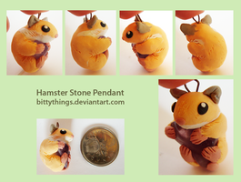 Hamster Stone Pendant - SOLD by Bittythings