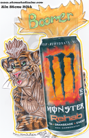 Josh Orange Monster Badge Commish by ZinStone