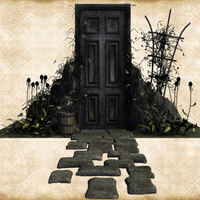Spooky Door by Just-A-Little-Knotty