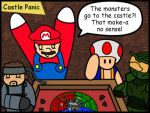 Video Game Stars playing Board Games: Castle Panic by The-Author-M