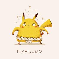 Pika Sumo by spicyroll