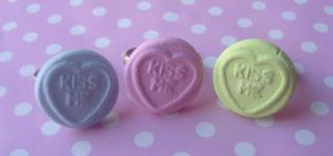 Loveheart Rings by citruscouture