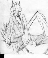 Dragon Girl from Behind by Miss-Vicki-Vicki
