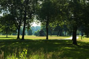 Mystical morning in the park by steppeland