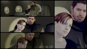 Chris Redfield and Jill Valentine by JhonyHebert