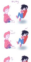 AT: Do you ever...? {Gumball and Marshall Lee} by KatieGeorgeArt