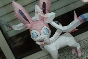 Sylveon Finished by KokoroPapercraft