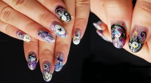 Alice in wonderland (nailart) by bemain