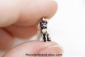 Super Tiny Kitty Cat Necklace by MonsterBrandCrafts