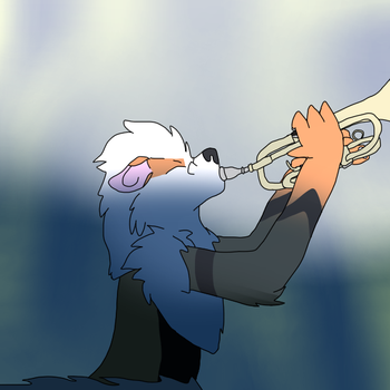 Play That Trumpet, Kyuji! by lucariodarkness745