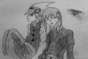Soul and Maka (4) by TheDrailusX