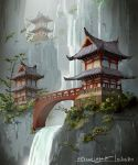Japanese Temple by E-sketches