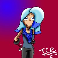 Quick Doodle: Ice As A Human by SammyTheDoodler