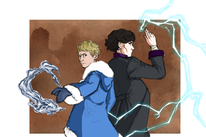 Sherlock - Bending!AU by Dailan