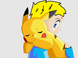Kingdom Hearts .:Best Friends: Anna and Pikachu:. by BoltIsTheBest