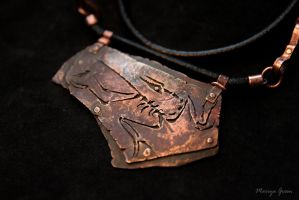 Stamped archaeopteryx by omegaptera