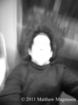 Motion Blur Self Portait - b+w by PigsCanFly2day