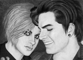 Adam Lambert and Tommy by santabillie