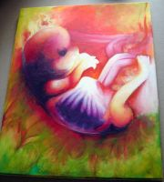 Fetus Painting by velvetChiharu