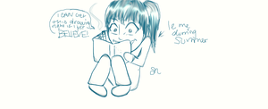 Me Durring Summer :P by Okhorse21