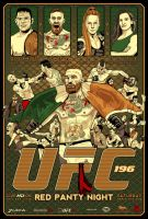 UFC 196 Poster by wild7even