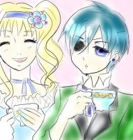 ciel and Lizzy tea time by anko86