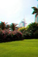 Burj Al Arab in 3D stereo photo by amirajuli