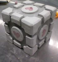 Companion Cube Sculpture by Byronica