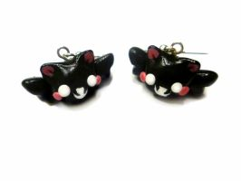 Batcat earrings - Halloween earrings by TenereDelizie