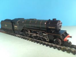 N Gauge Locomotive - Green Arrow by JennyRichardBlakina