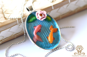 Polymer Clay Fish Necklace by Crystarbor