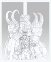 Thor and the Jotunheims Rulers by PerfectCirkel