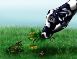Cow and Frog by Kalyn-Palak