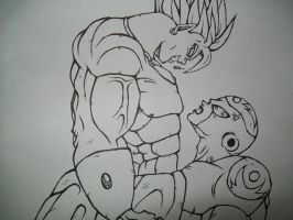 broly vs freiza by OasisLG94