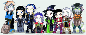WoW Alliance Lineup by yanagi-san
