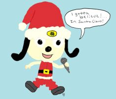 PaRappa the Rapper - Christmas by LeafyguyDS